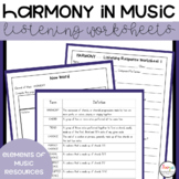 MUSIC- Elements of Music HARMONY Listening Analysis