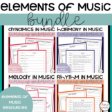 Elements of Music Listening Worksheets Bundle