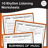 Elements of Music Rhythm Listening Worksheets