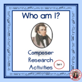 MUSIC COMPOSERS Research Activity Set 1 for Middle School Music