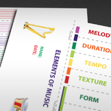 MUSIC: Elements of Music [Foldable Activity]