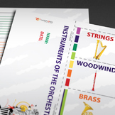 MUSIC: Instruments of the Orchestra [Foldable]