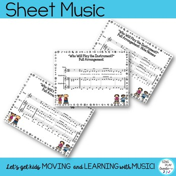 """Music Class Orff & Kodaly Song, Lesson, Game:""""Who Will Play the Instrument?"""""""