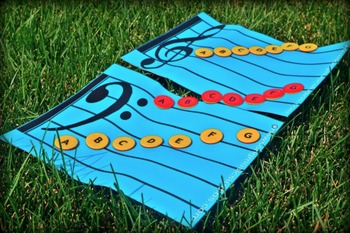 MUSIC GRAND STAFF MATS & TOKENS