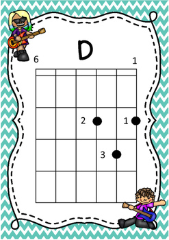 MUSIC - Guitar Chart FREEBIE