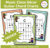 Music Class Decor - Guitar Chord Charts