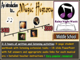 MUSIC HISTORY ACTIVITIES DISTANCE LEARNING