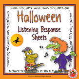 Halloween Music Listening Response Sheets