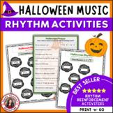 Halloween Music Rhythm and Aural Activities