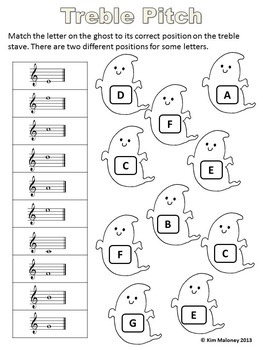Halloween Music Activities: 24 Halloween Worksheets B/W