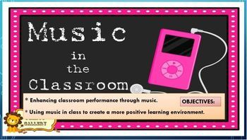 MUSIC IN THE CLASSROOM: PRESENTATION