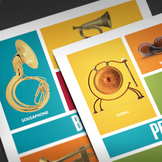 MUSIC: Instrument Families - 5 Posters [8.5x11]