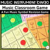Music Instrument Bingo Classroom Game