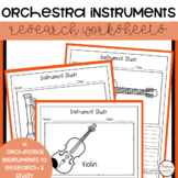 Instruments of the Orchestra Instrument Study Worksheets