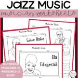 Jazz Musician Study Worksheets