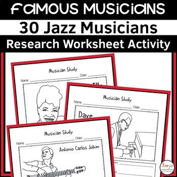 Jazz Musician Study Worksheets