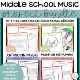 Middle School Music Project Bundle