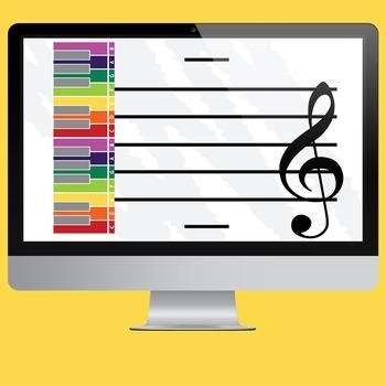 MUSIC: Keyboard & Staff Printable/Poster