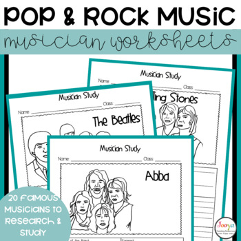 MUSIC- Kings and Queens of Rock & Pop Musician Study