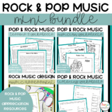 Rock and Pop Music Lessons and Worksheets Mini Bundle