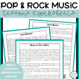 Pop and Rock Music Lessons and Worksheets