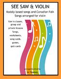 MUSIC Kodaly based Songs for Beginning Violin