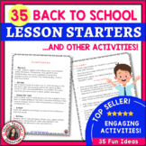 BACK to SCHOOL MUSIC ACTIVITIES: 35 Lesson Starters and ot