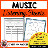 MUSIC Listening Journal Activities