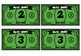 MUSIC MONEY: NOTE VALUES AND RESTS (CASH/BUCKS)