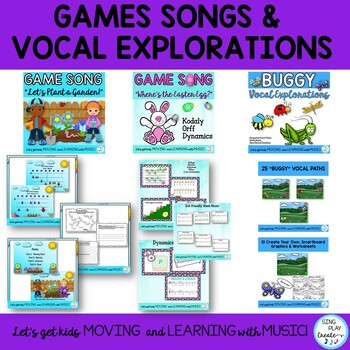 April Music Class Lesson Bundle: Lessons, Songs, Games, Worksheets, VIDEOS