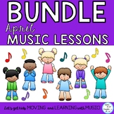 April Spring Music Lesson Bundle: Songs, Games, Activities, Worksheets, Orff K-6