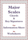 Music Theory: Major Scales Music Worksheets