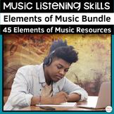 Elements of Music Listening Activities Mega Bundle