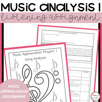 MUSIC: Music Analysis Assignment 1 - Listening, Research & Presentation