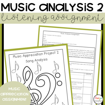 MUSIC: Music Analysis Assignment 2 - Listening, Research and Presentation