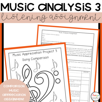 MUSIC - Music Analysis Assignment 3 - Comparison