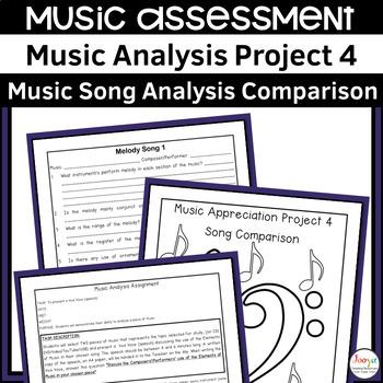 MUSIC - Music Analysis Assignment 4 - Comparison Senior Version