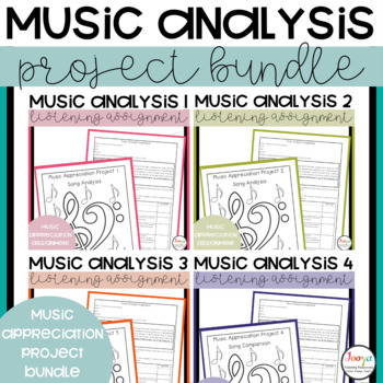 Music Analysis Assignments Complete Bundle 1-6