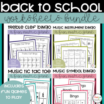 MUSIC- Music Back to School Bundle