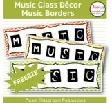 MUSIC - Music Bulletin Board Border FREEBIE