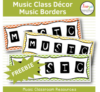 MUSIC - Music Bulletin Board Border FREEBIE