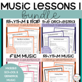 Music Lessons and Worksheets Bundle 1