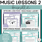 Music Lessons and Worksheets Bundle 2