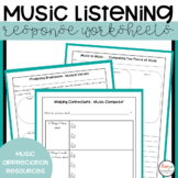 MUSIC - Music Listening Response Worksheets with Super Six Reading Strategies