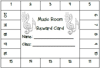 MUSIC: Music Reward Card Freebie