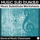 Music Sub Tub Worksheets Bundle