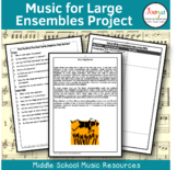 MUSIC - Music for Large Ensembles - Unit of Work for Elective Music Students