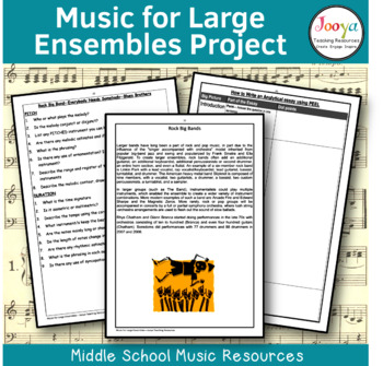 Music for Large Ensembles - Unit of Work for Elective Music Students