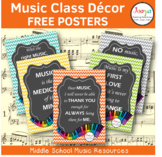 Music Class Decor FREE Posters