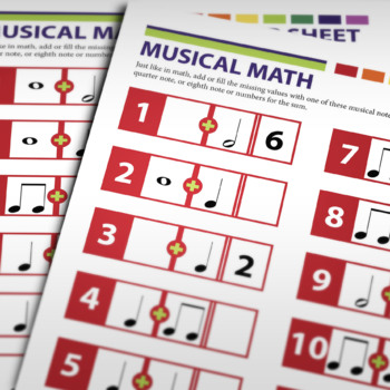 MUSIC: Musical Math Activity Worksheet